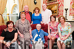 90th Birthday : Birdie Mai Beaton, Moyvane who celebrated her 90th birthday with her family & friends at the Listowel Arms Hotel on Saturday last. Front : Barbara Beaton, Margaret Kane, Birdie Mai Beaton, Jane Harrison & Mary Kennelly. Back : Hamish Beaton, Eilish Dore Liam Beaton.