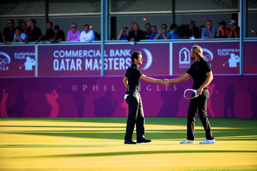 Gregory Bourdy (FRA) in action during the final round of the Commercial Bank Qatar Masters played at Doha Golf Club, Doha, Qatar. 21-24 January 2015 (Picture Credit / Phil Inglis)