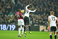 Michail Antonio of West Ham United and Andre-Frank Zambo Anguissa of Fulham during West Ham United vs Fulham, Premier League Football at The London Stadium on 22nd February 2019