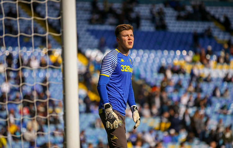 Leeds United's Bailey Peacock-Farrell warms up<br /> <br /> Photographer Alex Dodd/CameraSport<br /> <br /> The EFL Sky Bet Championship - Leeds United v Millwall - Saturday 30th March 2019 - Elland Road - Leeds<br /> <br /> World Copyright © 2019 CameraSport. All rights reserved. 43 Linden Ave. Countesthorpe. Leicester. England. LE8 5PG - Tel: +44 (0) 116 277 4147 - admin@camerasport.com - www.camerasport.com