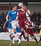 Jon Daly battling for the ball
