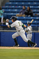 Lynchburg Hillcats outfielder Kyle Wren (2) during a game against the Salem Red Sox on April 25, 2014 at Lewisgale Field in Salem, Virginia.  Salem defeated Lynchburg 10-0.  (Mike Janes/Four Seam Images)