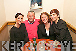 Enjoying the music at the opening night of 'An Shebeen', lower Rock St, Tralee (previously Richies bar) last Sunday were l-r: Gemma Knightly, Richie Houlihan, Grace O'Donnell and Emma Houlihan.