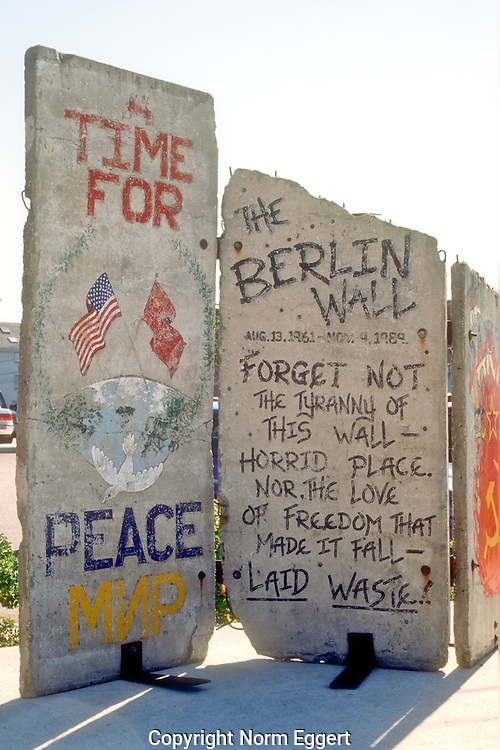 "The ""Berlin Wall"" displayed in Portland, Maine"