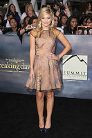 LOS ANGELES, CA - NOVEMBER 12: Olivia Holt at the premiere of Summit Entertainment's 'The Twilight Saga: Breaking Dawn - Part 2' at the Nokia Theatre L.A. Live on November 12, 2012 in Los Angeles, California. Credit: mpi29/MediaPunch Inc. /NortePhoto