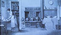 Technology:  The Kitchen, 1874. Thomas Wescott's CENTENNIAL PORTFOLIO, Philadelphia, 1876.