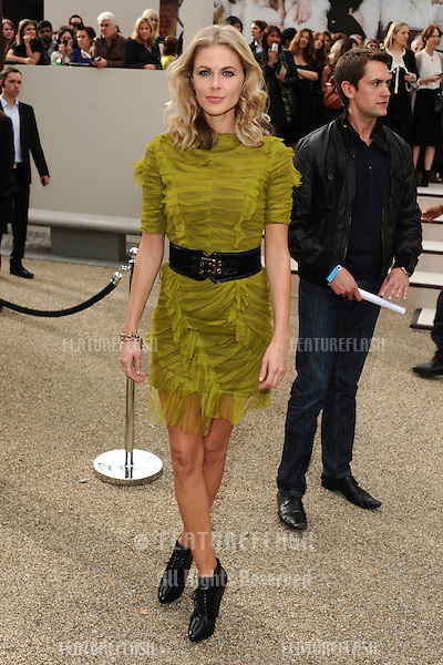 Donna Air arriving for the Burberry fashion show as part of London Fashion Week at the Chelsea College of Art and Design, London.  22/09/2010  Picture by: Steve Vas / Featureflash