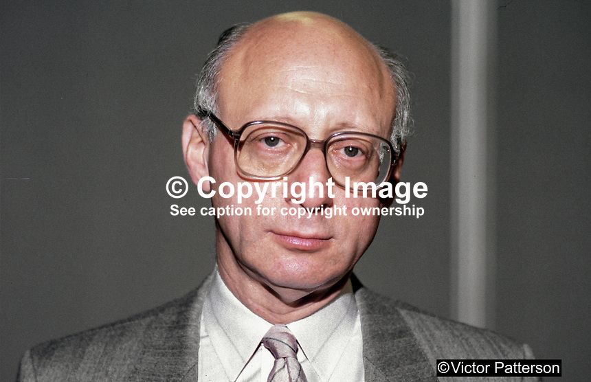 Gerald Kaufman, MP, Labour Party, UK, 19870921GK1.<br />
