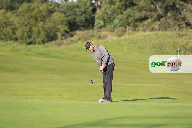 Scott Jamieson (SCO) on the 2nd fairway during Round 1 of the 2015 KLM Open at the Kennemer Golf &amp; Country Club in The Netherlands on 10/09/15.<br /> Picture: Thos Caffrey | Golffile