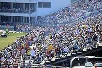 Sept. 22, 2012; Ennis, TX, USA: NHRA packed grandstands during qualifying for the Fall Nationals at the Texas Motorplex. Mandatory Credit: Mark J. Rebilas-