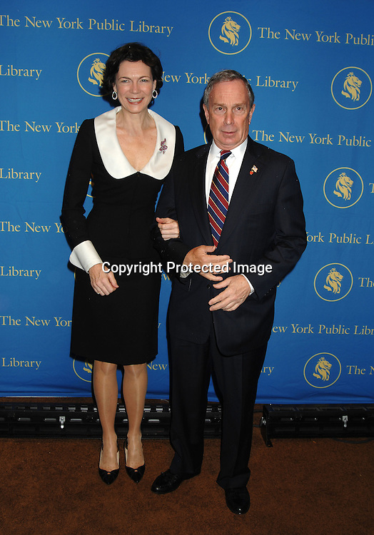 Mayor Michael Bloomberg and Diana Taylor..arriving at The New York Public Library Annual Library Lions Gala on November 13, 2006 honoring Oprah Winfrey,..Gao Xingjian, Orhan Pamuk, Dr James D Watson and ..Mr Elie Wiesel. ..Photo by Robin Platzer, Twin Images
