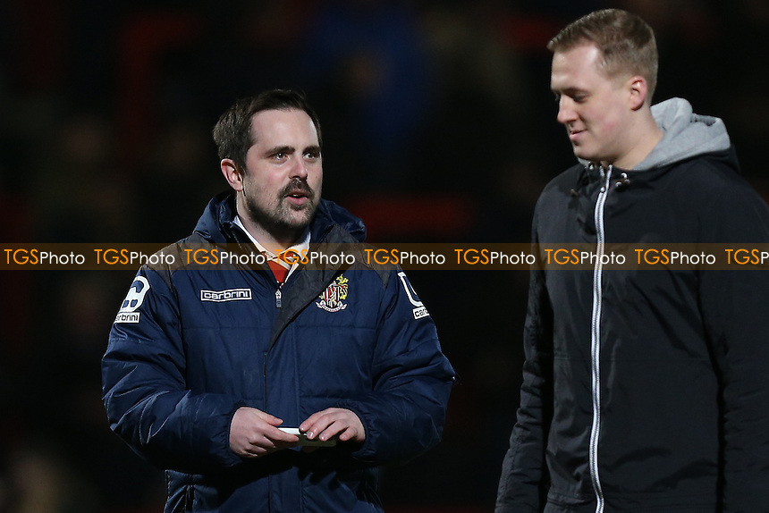 Dave Toyn of Stevenage during Stevenage vs Cheltenham Town, Sky Bet EFL League 2 Football at the Lamex Stadium on 14th February 2017