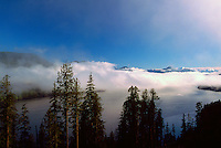 Cloud Formations over Nitinat Lake, Vancouver Island, BC, British Columbia, Canada
