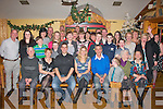 Gregory Lowe,Shanakill,Tralee,son of Henry&Linda and his wife Louise Thomson(Melbourne,Australia)seated 3rd&4th from the left,who were married in Melbourne recently had a fab nightout while home for Christmas in Stokers Lodge,Tralee with many friends and family..