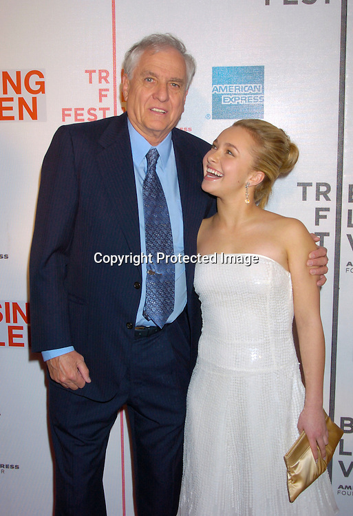 "Hayden Panettiere and Garry Marshall ..at the Opening Night of The Tribeca Film Festival screening of ""Raising Helen"" on May 1, 2004 at the ..Tribeca Performing Arts Center. ..Photo By Robin Platzer, Twin Images.."