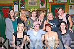 Pub Crawl : Staff of Pierse & Fitzgibbon, Listowel, having enjoyed their Christmas meal at Mai Fitz's went on a pub crawl and are pictured here at John B' Keane's bar in Listowel on Friday night last. Ftront ; Liz tarrant, David Pierse, Jane Gilbert & Jennifer Moloney. Back : Tanya Kissane, Claire Naughton, Bernie Daly, Paula Murphy, Trish Keane & Marie O'Sullivan.