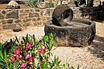 Millstone in Capernaum, Israel