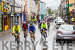 Ring of Kerry Cyclists on their way through Cahersiveen on Saturday morning.