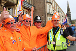 Dutch fans enjoying the Women Elite Road Race of the UCI World Championships 2019 running 149.4km from Bradford to Harrogate, England. 28th September 2019.<br /> Picture: Seamus Yore | Cyclefile<br /> <br /> All photos usage must carry mandatory copyright credit (© Cyclefile | Seamus Yore)