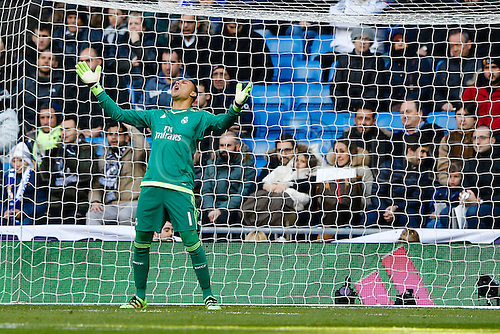 05.03.2016.  Madrid, Spain.  Keylor Navas Gamboa (1) Real Madrid. La Liga between Real Madrid versus Celta de Vigo at the Santiago Bernabeu stadium in Madrid, Spain