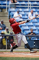 Altoona Curve first baseman Will Craig (25) follows through on a swing during a game against the Binghamton Rumble Ponies on June 14, 2018 at NYSEG Stadium in Binghamton, New York.  Altoona defeated Binghamton 9-2.  (Mike Janes/Four Seam Images)