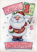 Theresa, CHRISTMAS SANTA, SNOWMAN, paintings(GBTG195,#X#)