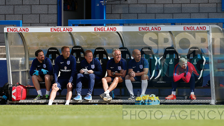 England goalkeeper Aaron Ramsdale (right) during the U19's International match at the New Buck?s Head Stadium, Telford. Picture date: 1st September 2016. Picture Malcolm Couzens/Sportimage