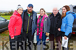 Aine and Jackie Hegarty, Margaret O'Mara, Tom Hegarty and Sinead O'Connor (All Lisselton) at the Castleisland Coursing meeting on Monday.