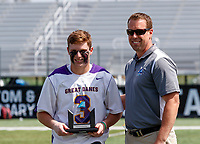 TD Ierlan (#3) was the Most Outstanding Player as UAlbany Lacrosse defeats Vermont 14-4  in the American East Conference Championship game at Casey Stadium, May 5.