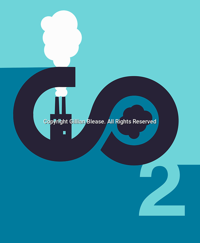 Factory chimneys and CO2 emissions