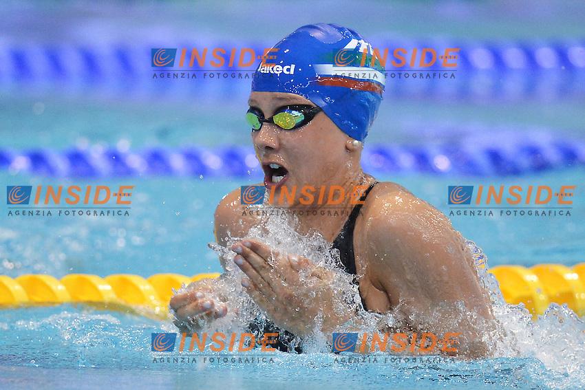 Lisa Fissneider Italy Women's 50m Breaststroke.Debrecen 26/5/2012 .31st European Swimming Championships - Nuoto.Foto Insidefoto / Andrea Staccioli