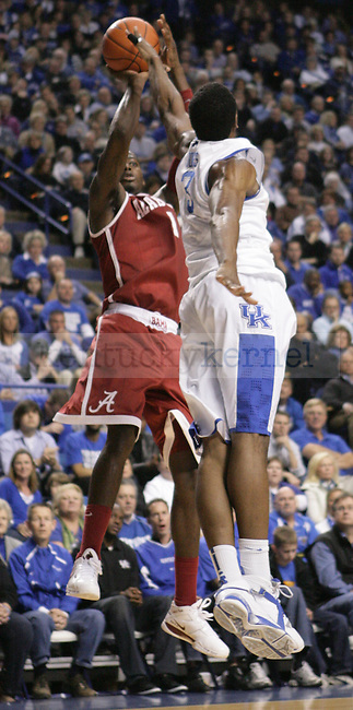 during the first half of UK's game against Alabama at Rupp Arena in Lexington, Ky. Jan. 21, 2012. Photo by Brandon Goodwin   Staff