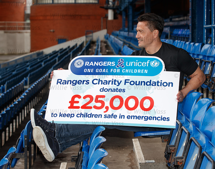 Michael Mols at Ibrox for the Rangers Charity Foundation as part of an initiative to help keep children safe in emergencies.