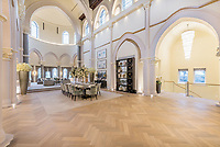BNPS.co.uk (01202 558833)<br /> Pic: Foxtons/BNPS<br /> <br /> A stunning converted chapel at a former missionary college where TV's Call the Midwife was filmed has gone up for rent at £11,000 a week.<br /> <br /> Until 2013 the Grade II listed chapel at the former St Joseph's Missionary College in north London was used to film episodes of the BBC hit drama, starring Jenny Agutter and Miranda Hart.<br /> <br /> But the cast had to find a new set in which to recreate the midwives' East End home after permission was granted to convert the gothic building into homes.<br /> <br /> Now the four bedroom converted chapel has gone on the rental market.<br /> <br /> The lucky new tenant will enjoy a jaw-dropping, 8,000 sq ft of space.<br /> <br /> The most striking feature of the new home is the original nave that has been converted into an open-plan sitting, dining and kitchen area that has 40ft high ceilings.