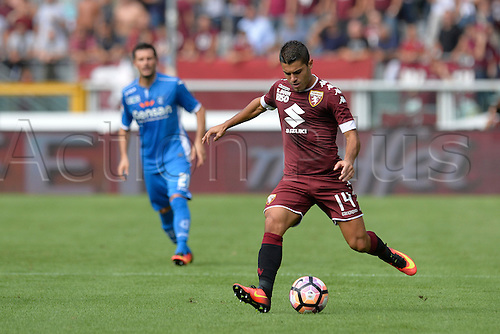 19.09.2016. Stadio Olimpico, Torino, Italy. Serie A Football. Torino versus Empoli. Iago Falque plays the ball forward . The game ended in a 0-0 draw.