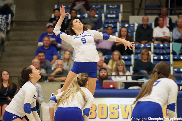Boswell beats Saginaw 3-0 in 7-5A high school volleyball on Tuesday, October 23, 2018. (Photo by Khampha Bouaphanh)
