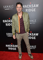 LOS ANGELES, CA. October 24, 2016: Actor Zach Braff at the Los Angeles premiere of &quot;Hacksaw Ridge&quot; at The Academy's Samuel Goldwyn Theatre, Beverly Hills.<br /> Picture: Paul Smith/Featureflash/SilverHub 0208 004 5359/ 07711 972644 Editors@silverhubmedia.com
