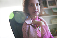 PRINCETON, NJ :  Author Joyce Carol Oates photographed at her home in Princeton, NJ on Tuesday, December 5, 2010. (Photo by Landon Nordeman)