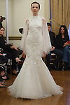 Model walks runway in a Daphne bridal gown from the Peter Langner Bridal collection 2017, at the 3 West Club on April 16, 2016 during New York Bridal Fashion Week Spring Summer 2017.