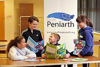 Peniarth presentation of Taclo'r Tasgau books at Urdd Gobaith in Llangrannog, Wales, UK. Thursday 30 November 2017