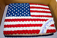 Michael McCollum<br /> 8/2/18<br /> Special Cake donated by Everything Iced Bakery in Knoxville at the reveal ceremony where it was announced to 13 year old Ryan Overman of west Knoxville that The Wish Connection is granting Ryan&rsquo;s wish to go to Washington DC and visit the White House at Carl Cowan Park, 10058 S Northshore Dr, Knoxville, TN&nbsp;, Thursday, August 2, 2018 at 5:45pm. Approximately 50-60 people attended, including the Overman family, friends, and AT&amp;T Employees. The Bearden High School Cadets also attended and lead the pledge of allegiance.<br /> &nbsp;The AT&amp;T Wish Connection is going to send Ryan, his family, and his service dog to Washington DC and while they are gone, the group of volunteers will be doing a makeover on his bedroom and turn it into the &quot;Oval Office&quot; at the White House.<br /> Ryan was born two weeks prematurely on May 13, 2005.&nbsp; During the pregnancy he was classified as high risk due to a measured lack of growth and, after a brief stay in the hospital, he came home weighing only 4 lbs 5 oz.&nbsp; His development was much slower compared to his peers, such as not learning to walk until he was well over a year old, and he was much smaller. The Overman family worked with Tennessee Early Intervention Services (TEIS) when Ryan was about one year old and with their help they were able to get Ryan enrolled through TEIS to receive Occupational, Physical, and Speech Therapy.&nbsp; When Ryan turned three he transitioned from TEIS to the Knox County Early Intervention Program and began attending a special school to continue his therapies until he was old enough to enroll at Cedar Bluff Elementary and now is at Cedar Bluff Middle School. In 2016, Ryan was diagnosed to have retinitis pigmentosa, a degenerative disease of the retinas that under the best of circumstances causes severe tunnel vision, but more commonly results in complete blindness.<br /> &nbsp;Despite the physical difficulties that Ryan has had to endure over the last thirteen years, he continually brightens the lives of those