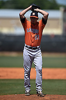 Houston Astros pitcher Austin Nicely (91) during a minor league spring training game against the Atlanta Braves on March 29, 2015 at the Osceola County Stadium Complex in Kissimmee, Florida.  (Mike Janes/Four Seam Images)