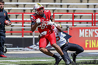 College Park, MD - April 27, 2019:  Maryland Terrapins tight end Michael Cornwell (87) catches a pass during the spring game at  Capital One Field at Maryland Stadium in College Park, MD.  (Photo by Elliott Brown/Media Images International)
