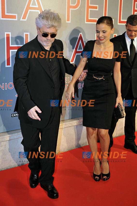 Pedro ALMDOVAR, Elena ANAYA.Roma 20/9/2011 Cinema Embassy.La pelle che abito - La Piel que habito.Anteprima - red carpet.Foto Insidefoto Andrea Staccioli