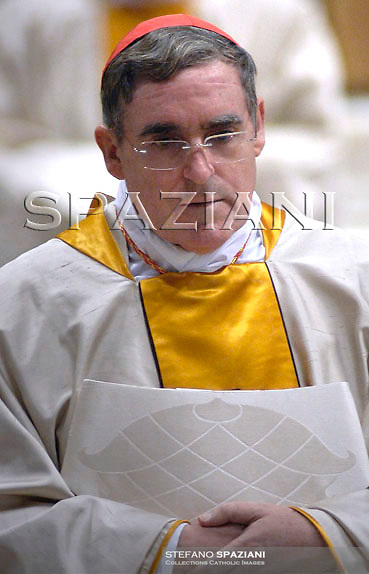 New cardinal Luis Martinez Sistach receives the ring from Pope Benedict XVI during the Consistory ceremony in Saint Peter's Basilica at the Vatican November 25, 2007