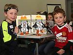 Aaron and Emmet Craven at Drogheda Library's winter arts and crafts workshop.<br /> <br /> Photo - Jenny Matthews