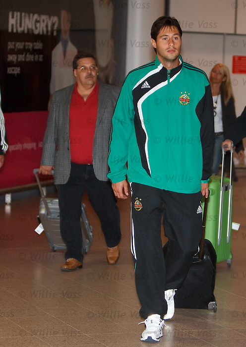 Rapid Vienna's dangerman Branko Boskovic arrives in Glasgow