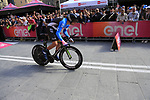 Tanel Kangert (EST) EF Education First powers down the start ramp of Stage 1 of the 2019 Giro d'Italia, an individual time trial running 8km from Bologna to the Sanctuary of San Luca, Bologna, Italy. 11th May 2019.<br /> Picture: Eoin Clarke | Cyclefile<br /> <br /> All photos usage must carry mandatory copyright credit (© Cyclefile | Eoin Clarke)