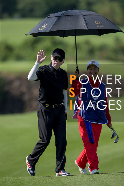 Feng Xiaogang during the World Celebrity Pro-Am 2016 Mission Hills China Golf Tournament on 22 October 2016, in Haikou, China. Photo by Victor Fraile / Power Sport Images