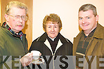 CENTR: Enjoying the refreshments at the open night at Killorglin Family Resource Centre on Thursday last were l-r: Dominic O Duibhir (Glo?r Chiarrai), Mary O'Sullivan, John Foley.
